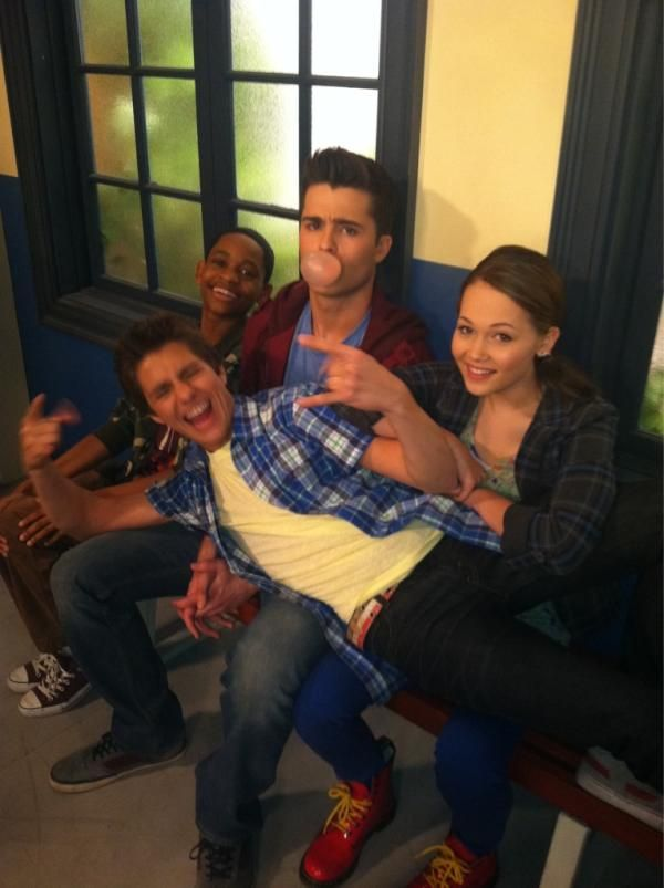 Billy Unger — The cast of Lab Rats just goofing around.