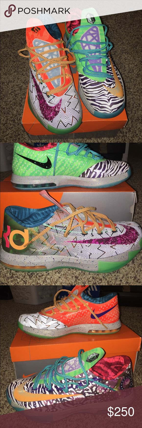 What the Kd 6,,, size 11.5 What the kd 6 . Size 11.5 worn a few times. No, they are not fake and no, I am not looking to trade. Nike Shoes Sneakers