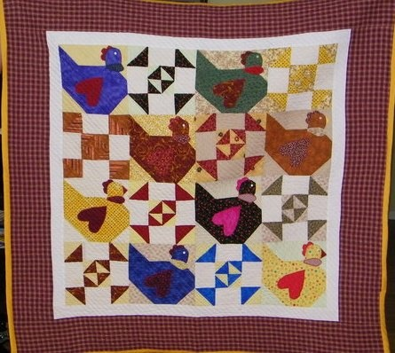 Hen Quilt: Home, Quilting Chickens, Chicken Quilts, For, Quilt Patterns, Ideas Para, Hen Chicks Quilt