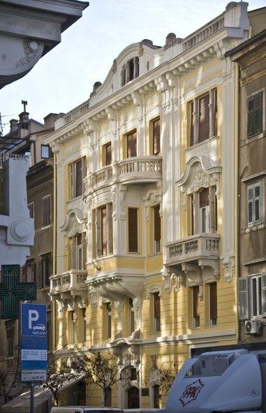 Art Nouveau architecture, Braun-Birò House, Rijeka, Croatia