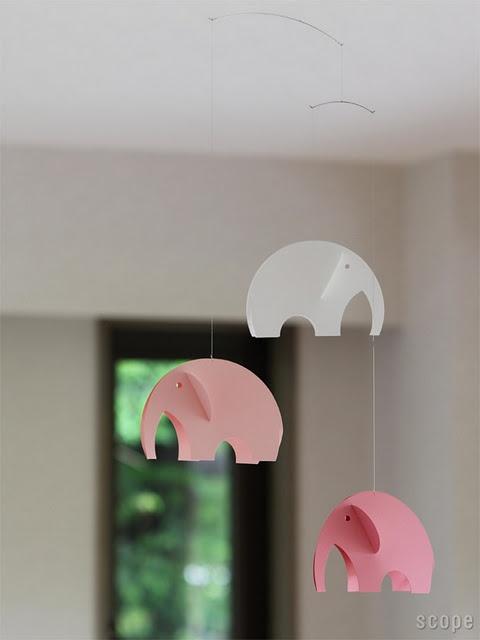 DIY Elephant Mobile