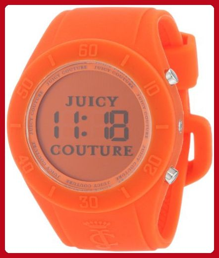 Juicy Couture Women's 1900883 Sport Couture Digital Orange Jelly Strap Watch - All about women (*Amazon Partner-Link)