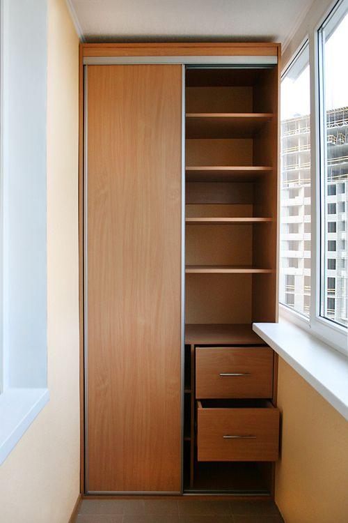 Шкафы-купе на балкон от производителя