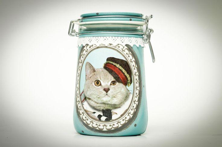 Decoupage jar
