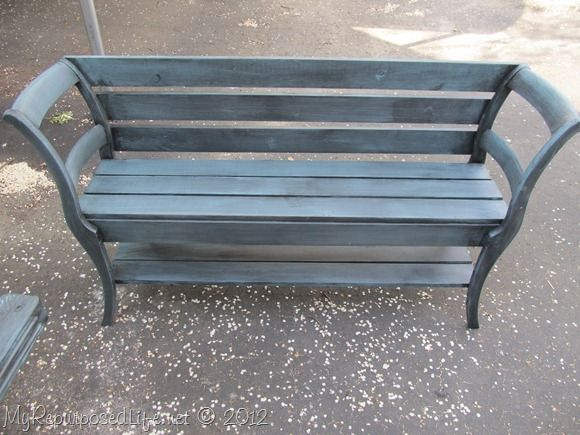 bench made from old chairs