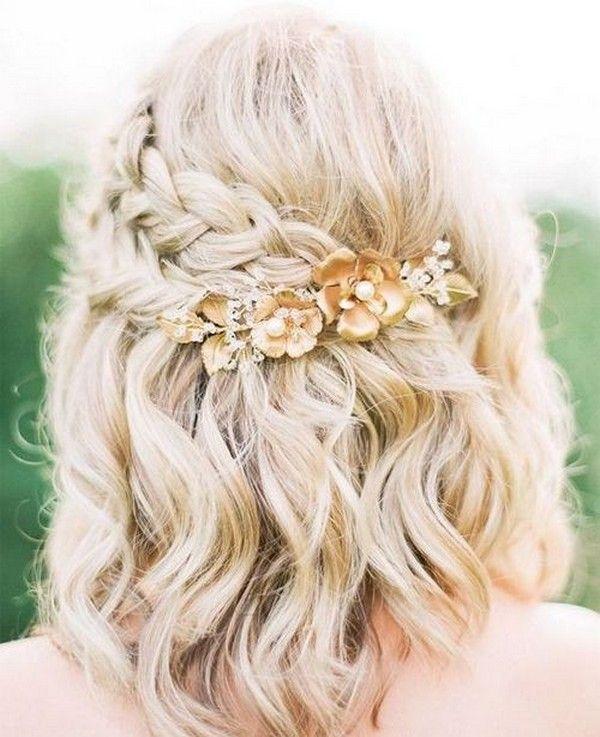 20 Medium Length Wedding Hairstyles For 2021 Brides Emmalovesweddings Braided Hairstyles For Wedding Short Wedding Hair Wedding Hairstyles For Medium Hair