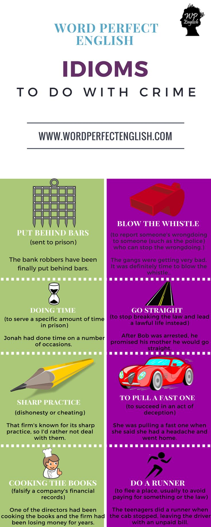 Idioms to do with Crime 1/2