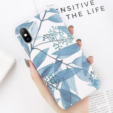 USLION Ultrathin Matte PC Case For iPhone X Flower Phone Case For iPhone 7 8 6 6…