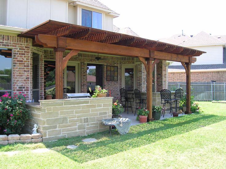 Attached To Home   Patio Area Cedar Arbor