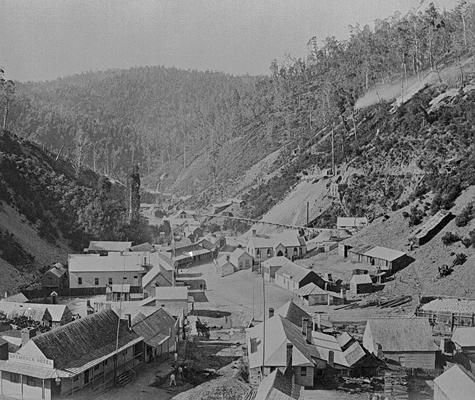 Walhalla with the Shamrock Hotel on the left, 1890 Museum Victoria, Australia