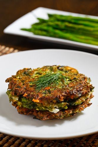 Asparagus and Feta Fritters - unfortunately my feta went bad so I subbed in some parm and they tasted pretty good