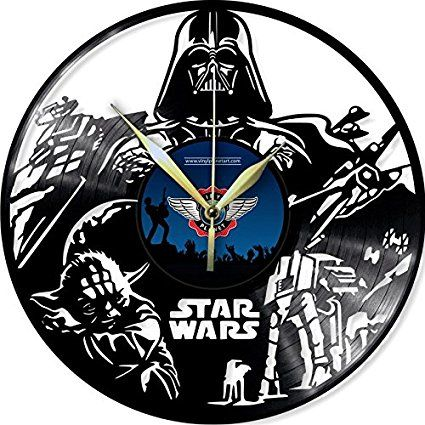 VINYL WALL CLOCK STAR WARS 4
