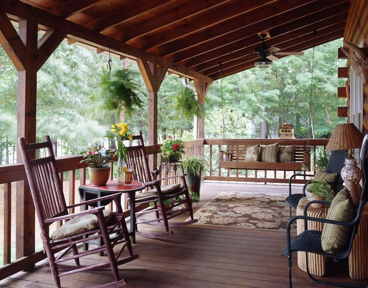 19 best log porches and decks images on pinterest log for Log cabin porches and decks