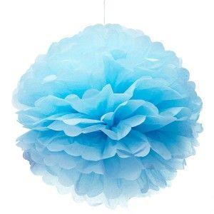 Köp Pappersboll Ljusblå hos Partytajm