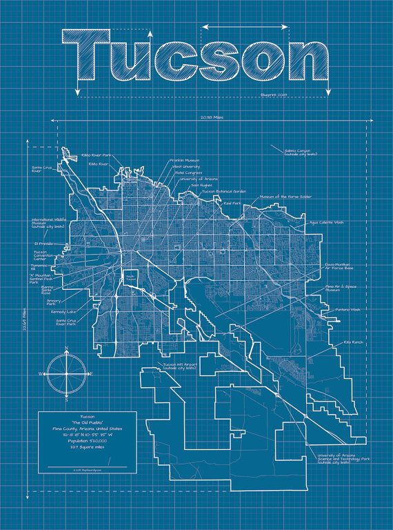 91 best city blueprints dd inspiration images on pinterest map tucson map original artwork tucson blueprint wall art gift for him street map arizona map graduation gift birthday gift malvernweather Choice Image