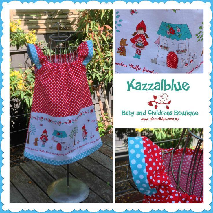Kazzalblue Little Red Riding Hood handmade dress