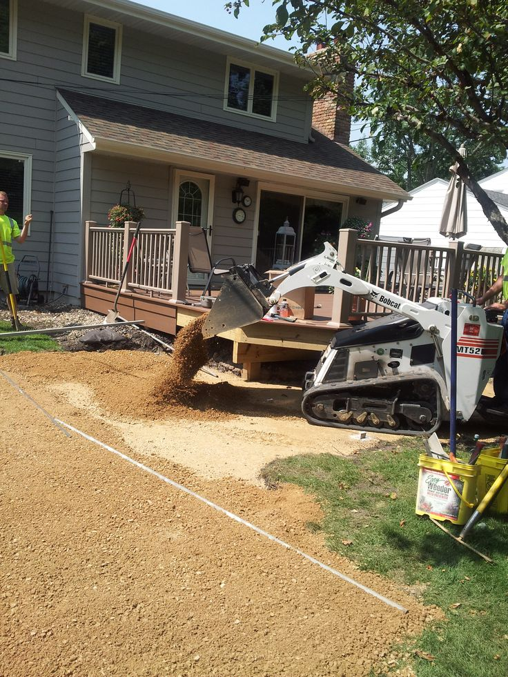 The Beginning Of A Paver #patio Project In Edina, Minnesota. Here, Our