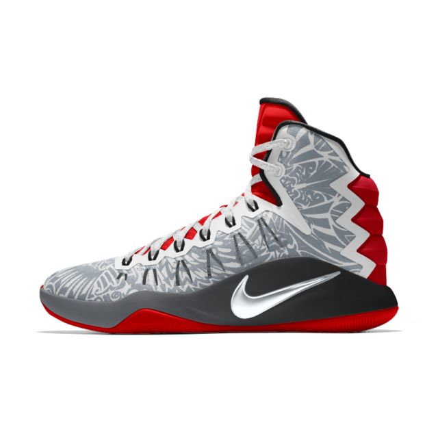 Mens Nike Hyperdunk 2016 Red White Light Red Basketball Shoes Z58731