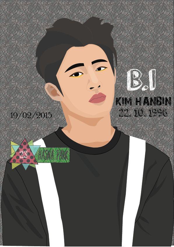 Illustration Kim Hanbin a.k.a B.I iKON