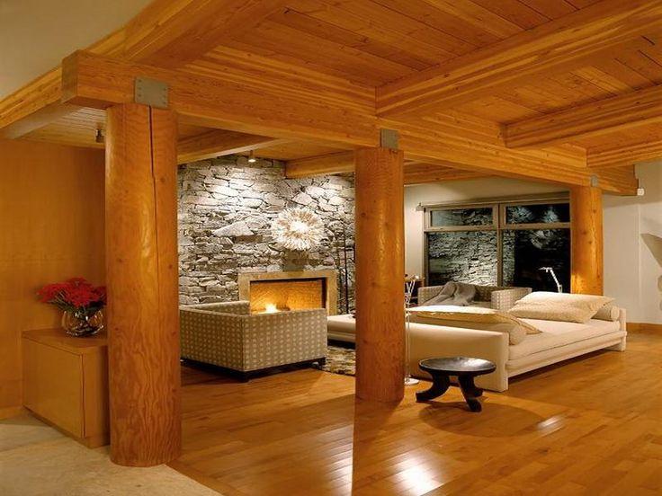 Log Cabin Style Interior Design Decor Dream Home Pinterest