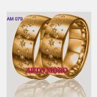 CINCIN Tunangan Emas, Cincin Kawin EMAS, Cincin Pernikahan TERBARU, Cincin Perak COUPLE: Cincin Kawin AM 80
