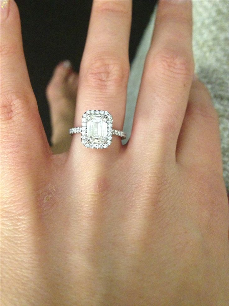 My SO and I have been looking at engagement rings, we are sure that we want  an emerald cut ct in a halo setting. We can\'t