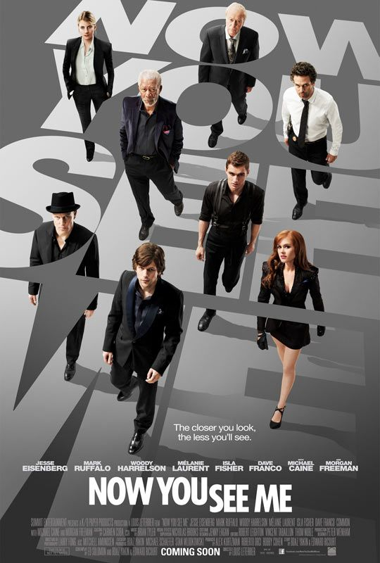 Now You See Me - Movie Trailers - iTunes. This looks soooo good! Like a modern Prestige