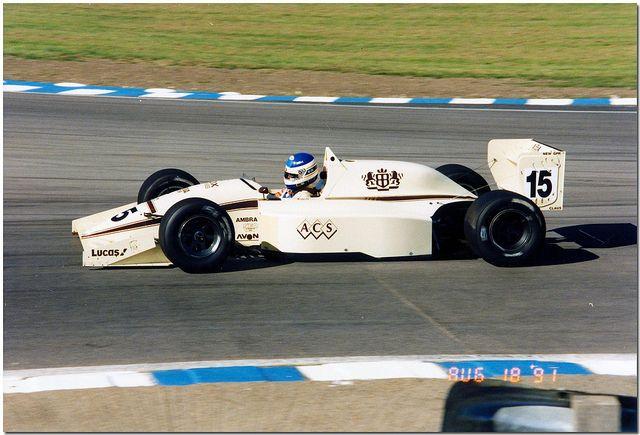 Vincenzo Sospiri - Lola T91/50 Cosworth DFV Tickford - Eddie Jordan Racing - Brands Hatch Formula 3000 Trophy - 1991 International F3000 Championship, round 7 - © Antsphoto