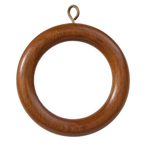 Sold in sets of four, these curtain rings are sized to fit our Wooden Curtain Poles, and come in a range of colour stains. To calculate the number that you require count the pleats on your curtains adding an extra ring for each end of the curtain (or if the curtain hooks are already in place, simply count those).
