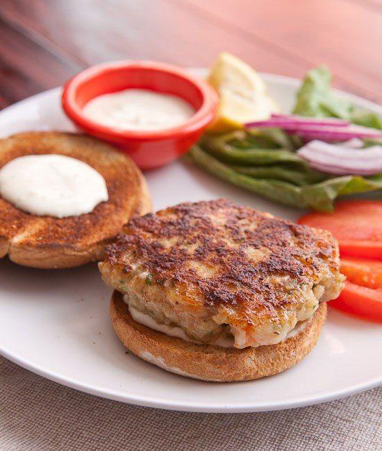 Homemade Shrimp Burger Recipe ~ Macheesmo