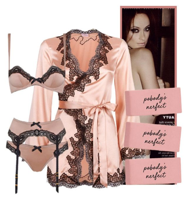"""""""Poboby is Nerfect"""" by fashionstarprincess ❤ liked on Polyvore featuring Agent Provocateur"""
