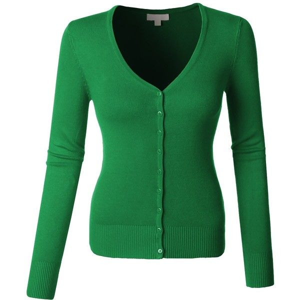 LE3NO Womens V Neck Raglan Cardigan Sweater at Amazon Women's Clothing...  ($9.99