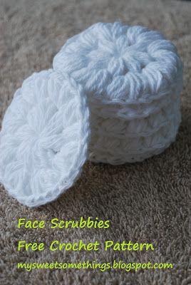 My Sweet Qualcosa: Schemi di venerdì - riutilizzabile Crochet Cotton Scrubbies viso