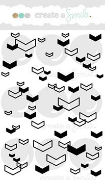 Create a smile Stamps: Floating Chevrons