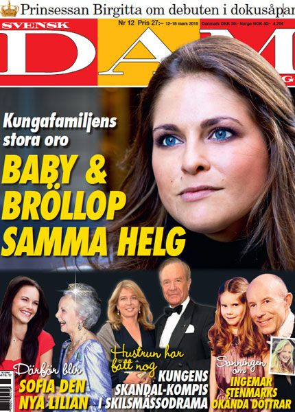 Princess Madeleine, baby and wedding the same weekend