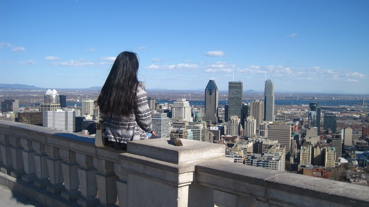 Parc Mont-Royal in Montreal, Quebec. Once again felt like I was at the top of the world.