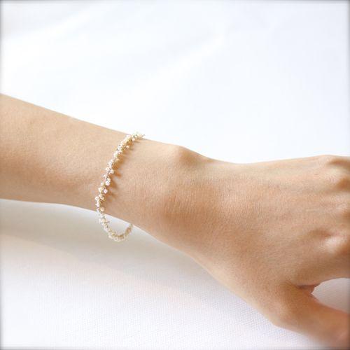 shirotsumekusa bracelet - asumi bijoux