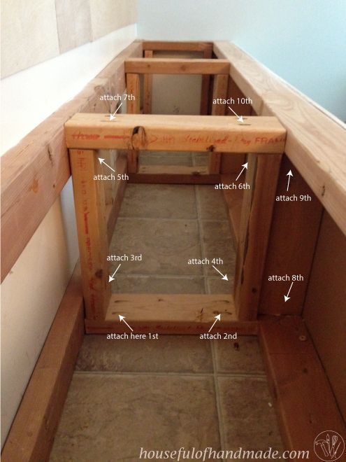Best 25 built in bench ideas on pinterest window bench seats kitchen extension step by step - Kitchen bench diy ...