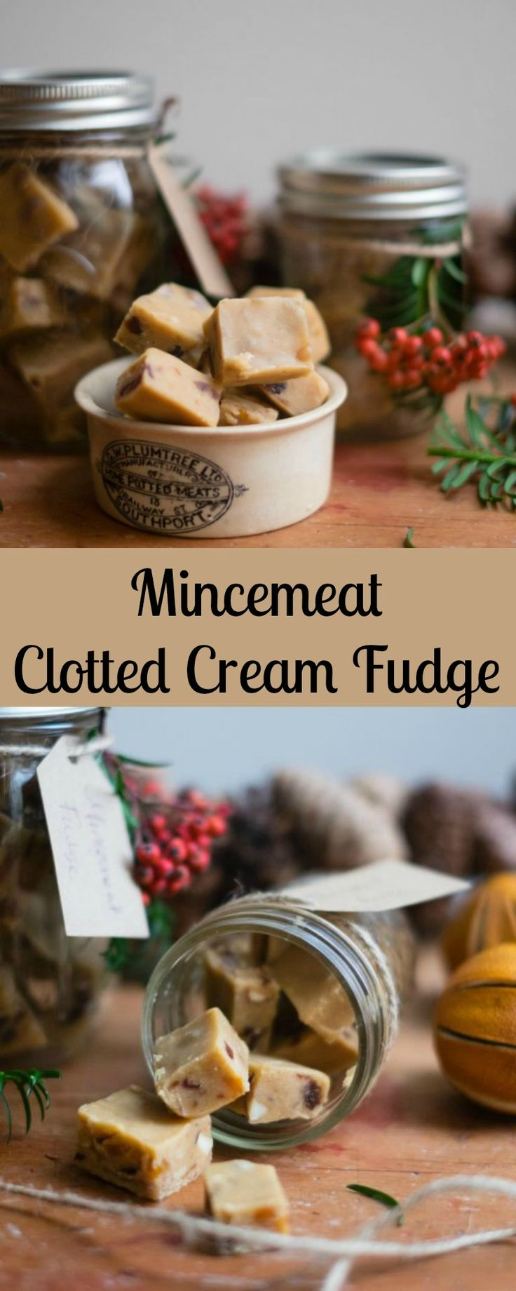 This thoroughly festive mincemeat clotted cream fudge is very easy to make and is a great Christmas gift for friends and family.