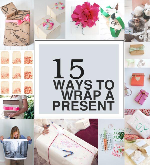 15 Ways To Wrap A Present.