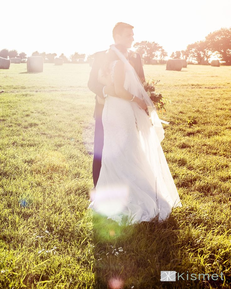 Photo from a gorgeous recent couple's wedding, evening light at the barn. #weddingswiltshire