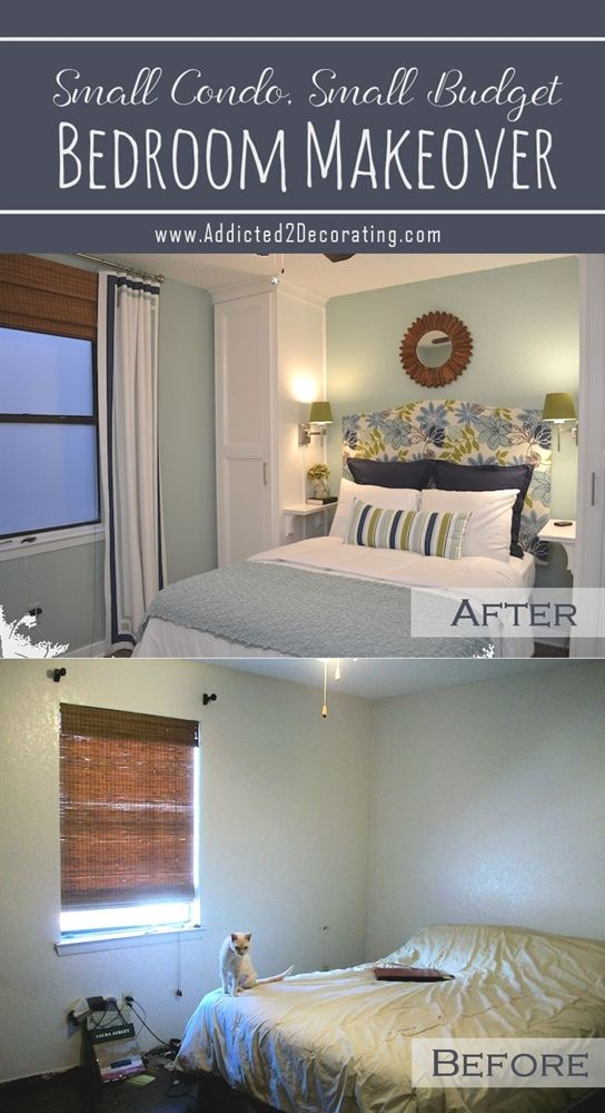 small condo small budget bedroom makeover before after wall rh pinterest com