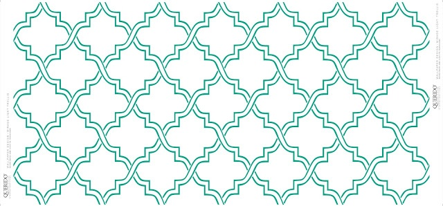 From the Trellis Wallpaper Collection - Emerald Green Pattern