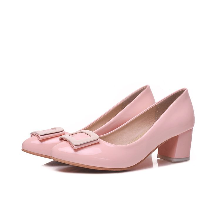2016 мода толстые пятки женщина черный высокие каблуки женщин розовые туфли на высоком каблуке zapatos mujer лакированной кожи острым носом обувь купить на AliExpress