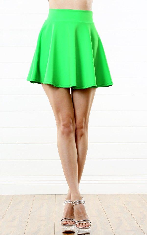 f53ecd4722 Scuba Skater Skirt GREEN