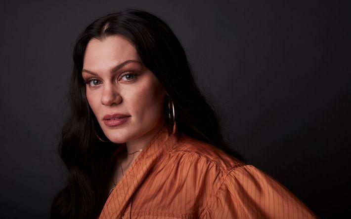 Hämta bilder Jessie J, brittisk sångerska, Make-up, brunett, känd sångerska, Jessica Ellen Cornish