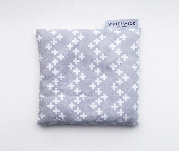 Lavender Scented Wheat Heat Pack/Bag (Therapeutic) - Grey Crosses