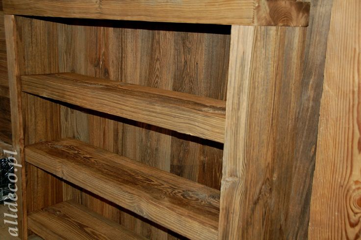 Etagere en vieux bois/Półka ze starego drewna
