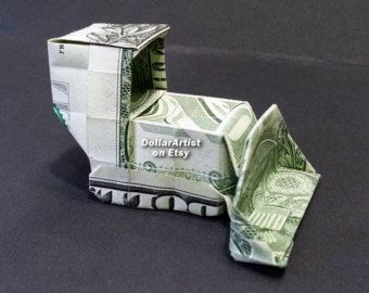 MONEY ORIGAMI LETTERS Made with Real Dollar Bill Cash Currency