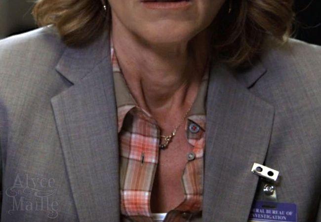 Gold Beaded Necklace - as seen on FOX's TV show Bones - @AlycenMaille earrings #Gold #jewelry #Bones #WornOnTV